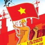PSD Poster Cổ Động 30-4 và 1-5