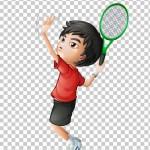 Tách nền Cậu bé chơi tennis