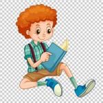 Tách nền Cậu bé đọc sách