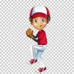 Tách nền Bé trai chơi bóng chày