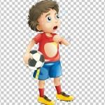 Tách nền Cậu bé đá bóng