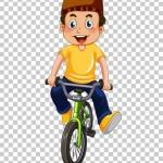 Tách nền Chú bé đạp xe đạp