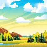 Vector thiên nhiên bầu trời