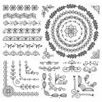 Vector hoa văn họa tiết trang trí 1