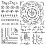 Vector hoa văn họa tiết trang trí 2