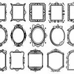 Vector hoa văn khung viền tranh