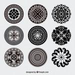 Vector vòng tròn kính vạn hoa