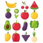 Vector trái cây rau củ quả 28