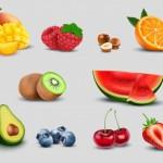 Vector trái cây rau củ quả 35