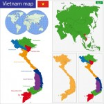 Vector bản đồ Việt Nam 5