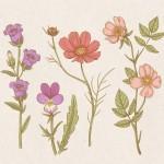 Vector hoa lá cành đẹp 51