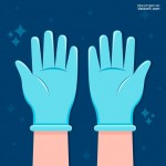 Vector găng tay y tế