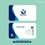Vector Name Card lượn sóng