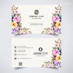 Vector Name Card hoa lá