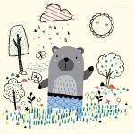 Vector con gấu vẽ ngộ nghĩnh