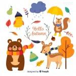 Vector động vật mùa thu