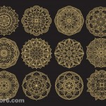Vector hoa văn tròn