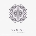 Vector hoa tròn nghệ thuật