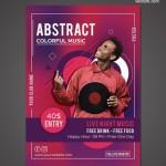 Poster lễ hội âm nhạc Vector 1
