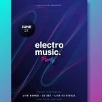 Poster lễ hội âm nhạc Vector 3