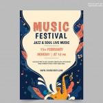 Poster lễ hội âm nhạc Vector 7