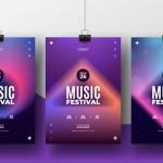 Poster lễ hội âm nhạc Vector 8