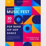 Poster lễ hội âm nhạc Vector 9