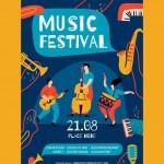 Poster lễ hội âm nhạc Vector 10