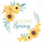 Hoa hướng dương mùa xuân vector 1