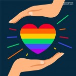 Trái tim bảy màu đẹp Vector