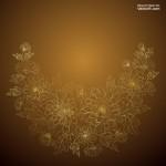 Nền hoa cúc vàng đẹp Vector