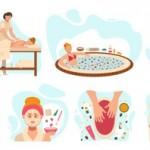 Vector dịch vụ spa làm đẹp 4
