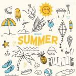 Rực rỡ mùa hè tươi mát Vector 8