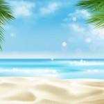 Bờ biển bãi cát tuyệt đẹp vector