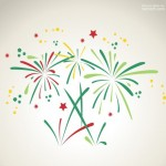 Vector pháo hoa màu sắc 8