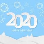 Vector 2020 pháo hoa nền tuyết
