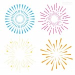 Vector pháo hoa màu sắc 11