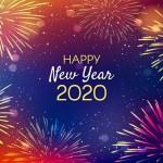 Vector nền pháo hoa 2020 đẹp 1