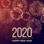 Vector nền pháo hoa 2020 đẹp 3