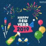 Vector ăn mừng năm mới đến