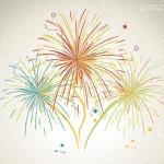 Vector pháo hoa rực rỡ năm mới 1
