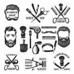 Vector biểu tượng nghề cắt tóc 1