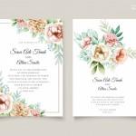 Thiệp mời cưới hoa vector 1