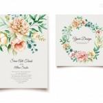Thiệp mời cưới hoa vector 2