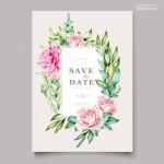 Thiệp mời cưới hoa vector 3
