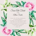 Thiệp mời cưới hoa vector 4