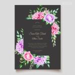 Thiệp mời cưới hoa vector 5