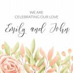 Thiệp mời cưới hoa vector 6