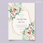 Thiệp mời cưới hoa vector 7