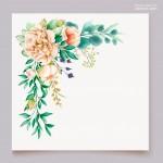 Thiệp mời cưới hoa vector 8